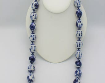 Vintage Blue and White Chinese Beads