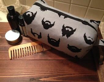 Beard print Cosmetic Bag