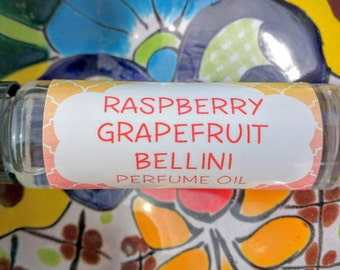 Raspberry Grapefruit Bellini Perfume Oil ~ Roll On Oil