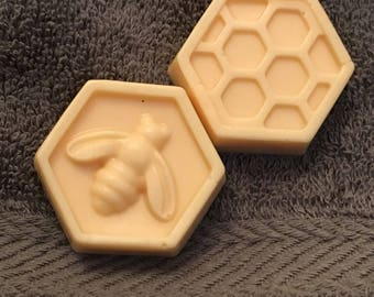 Milk and Honey Bee and Honeycomb Soap Set