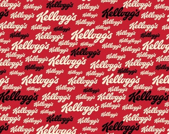 Kelloggs Logo Fabric From Springs Creative