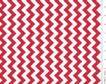 Small Red Chevron: Riley Blake Designs - 1 Yard Cut