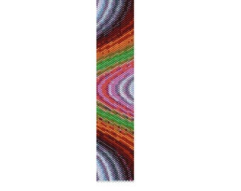 BPRA0008 Even Count Single Drop Peyote Cuff/Bracelet Pattern