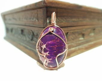 Sea Sediment Jasper gemstone pendant