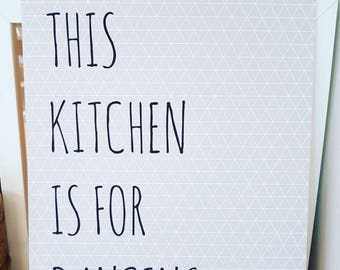 This Kitchen Is For Dancing A4 Print