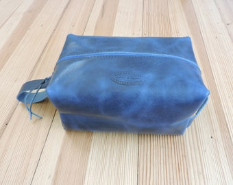 Dopp Kit, Leather Travel Kit, Toiletry Bag, Horween Leather Shaving Kit, Cosmetic Bag