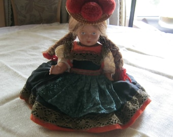 Black Forest Girl Doll-Schildkröt Germany around 1950, height approx. 25 cm good modern condition