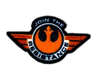 "FREE SHIPPING-Domestic-InspireMeByAudrey Star Wars Rebel Alliance Join The Resistance Embroidered Sew/Iron-on Patches 1.25""X3"""