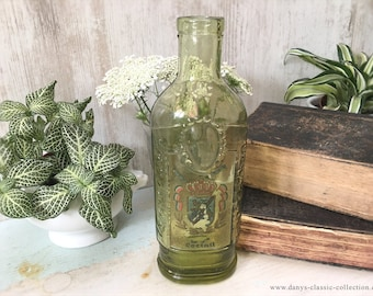 Dekorative grüne VERPOORTEN Coctail Flasche Vintage green glass bottle Antique collectible Vintage home decor