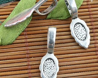 Alloy metal Tibetan Silver color texture pattern charms 38pcs EF0130