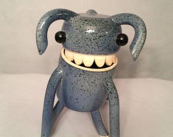 """MeBäh """"Droopy Bluey"""" Ceramic Vessel / Figurine - One of a kind [#17-206]"""