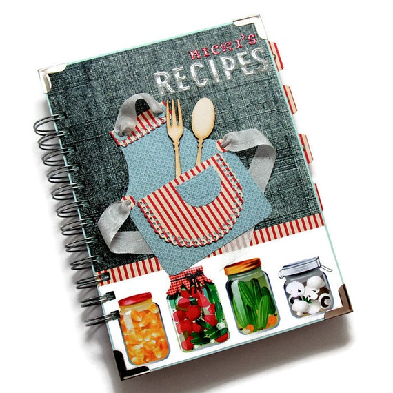 Personalized recipe notebook blank recipe book food forumfinder Image collections