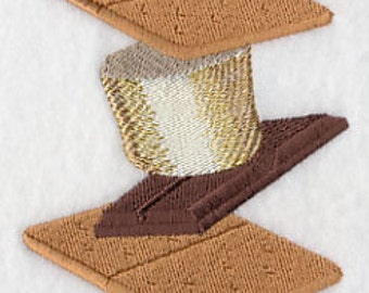 S'more Stack Embroidered Flour Sack Hand/Dish Towel