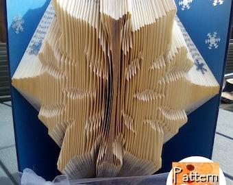 Snowflake Folded Book Art Pattern