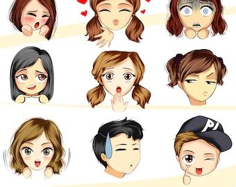 Cute Emoji & Emoticon Set