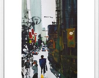 Watercolor lanscape by Mohsen Salehi