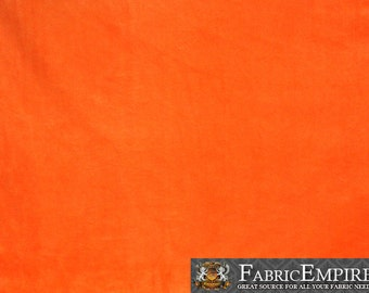 Minky Solid ORANGE Fabric By the Yard