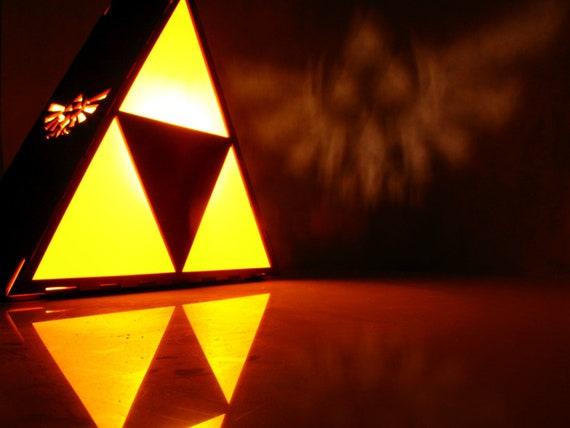 Zelda Lamp Triforce Lamp Wood Lamp Zelda Triforce Lamp Hyrule