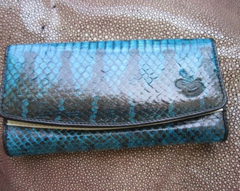 fish  purse pattern trifold wallet talapia  python  Mermaid