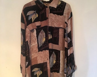 Oversized colourful shirt size M