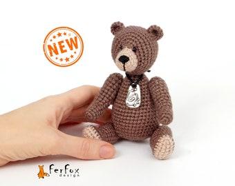 Miniature teddy bear Small gift Handmade teddy Bear lover gift Stuffed teddy bear OOAK plush teddy bear Artist teddy bear Collectible teddy