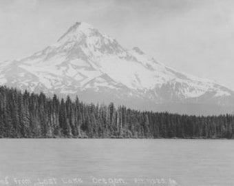 Scene of Mt. Hood from Lost Lake in Oregon Photograph (Art Prints available in multiple sizes)