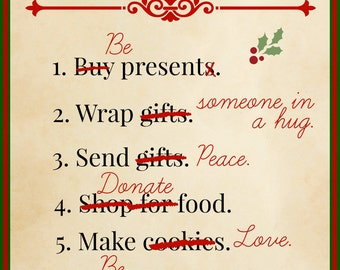 Holiday To-Do List - Printable
