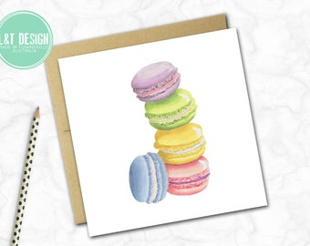 Mad About Macaroons Mini Card