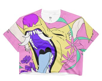 W0LF all-over print crop top