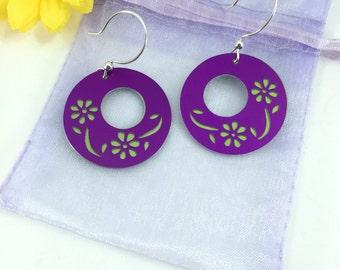 Flower Silhouette earrings