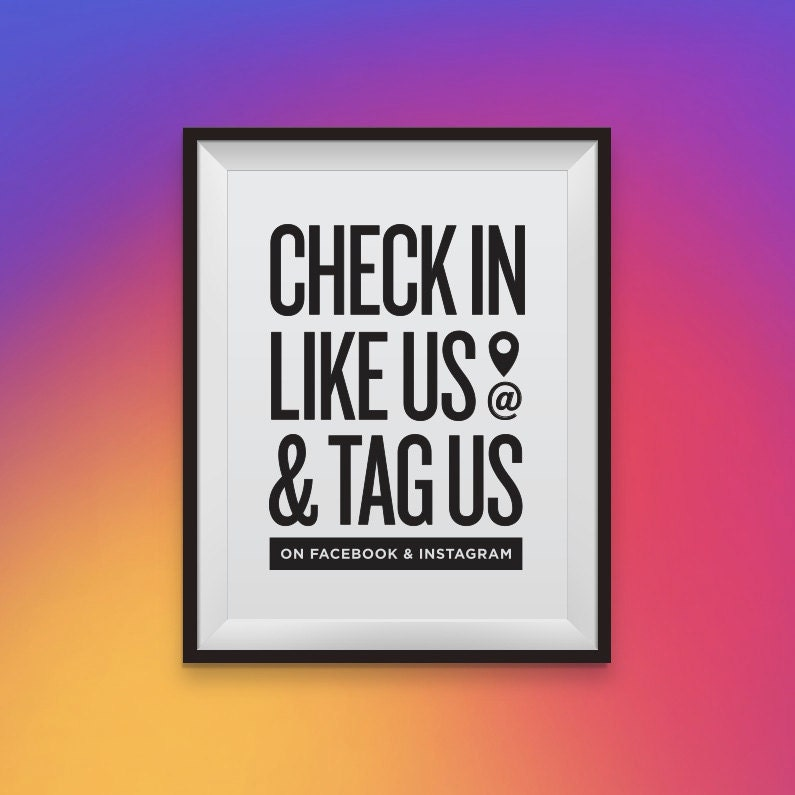 check in like us  u0026 tag us on facebook and instagram social