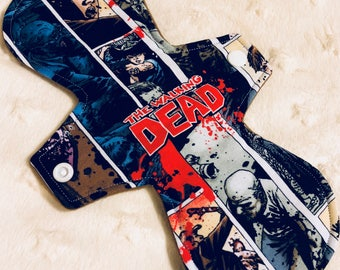 """10"""" Moderate Cloth Pad - the walking  dead zombie"""