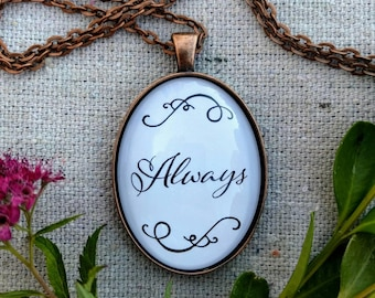 Always Glass Pendant Necklace on 30 inch chain
