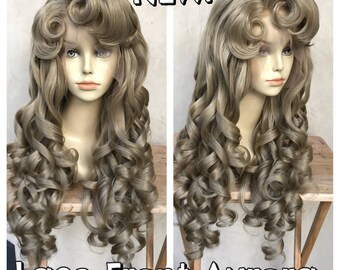 Sleeping Beauty Lace Front Adult Costume Wig with Heat Friendly Fibers