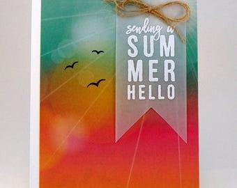 Summer Sunset Friendship Greeting Card