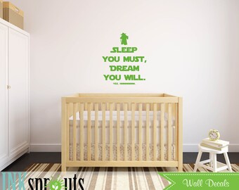 Star Wars Inspired  Decal, Yoda Quote, The force is strong, Starwars, Rocket, Outerspace, Modern Nursery, Nursery decals, Baby Decals,