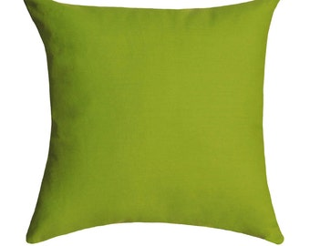 Premier Prints Solid Chartreuse Green Double Sided Decorative Throw Pillow - Free Shipping