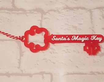 Santa's magic key,  Christmas eve, Acrylic Key, magic key
