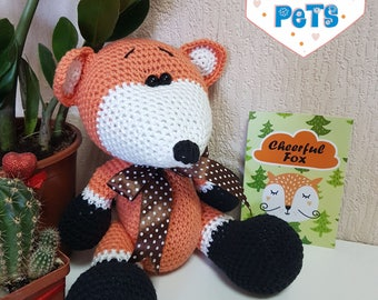 Amigurumi fox/crochet fox/knitted fox/knit fox/stuffed fox/fox/fox plush/amigurumi/fox amigurumi/crochet fox toy/fox toy/fox crochet