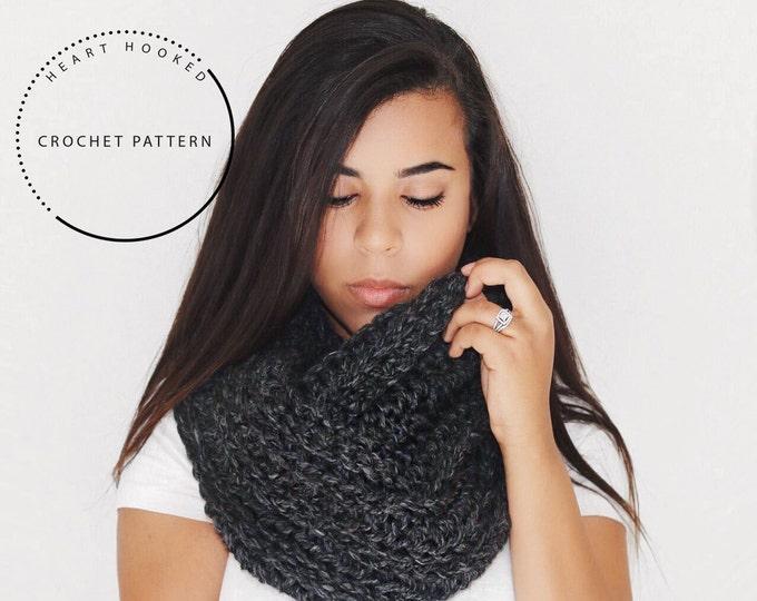 Crochet PATTERN // Crochet Infinity Scarf PATTERN // Madeline SCARF