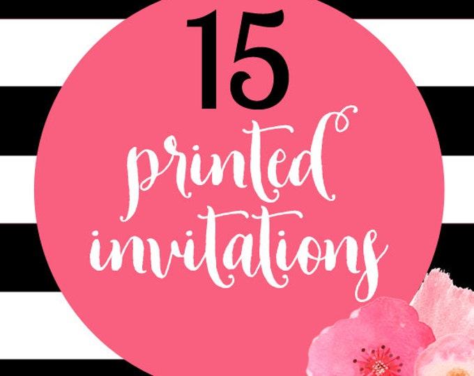 15 Printed Invitations With Envelopes