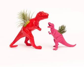 Dinosaur Toy Planter with Succulent or Airplant
