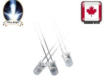 100pc blanche 5MM ronde de l'eau claire-lumière Ultra lumineux LED Diodes Canada