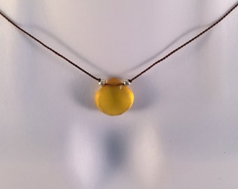Yellow Chalcedony Necklace