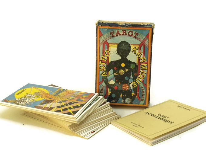 Vintage Tarot Cards Astro Karmique by Eric Jansen. Fortune Telling, Astrological and Divination Card Deck. Cartomancy & Esoteric Gifts.