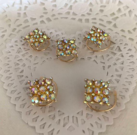 Ballroom Dancing Hair Swirls-Bridesmaids Hair Coils-Square Aurora Hair Spins-Bridal Party Hair Accessory-Prom Time