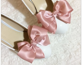 Custom made Bridal shoes clips wedding shoes clips saint ribbon bow shoes clips