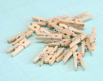 Gift Wrap Mini Wooden Pegs for Crafting, Presents and Finishing Touches