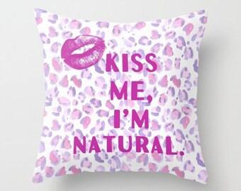Kiss Me Animal Print Custom Pillow