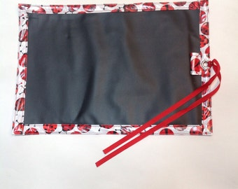 Lady Bug Chalk Cloth and Laminated Cotton Placemat